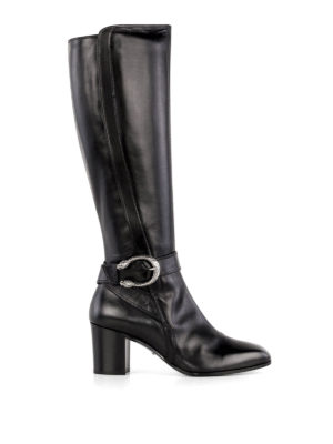 Gucci: boots - Tiger head detailed leather boots