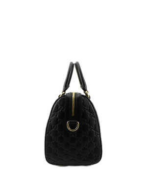 Gucci: bowling bags online - Gucci Signature leather bowling bag