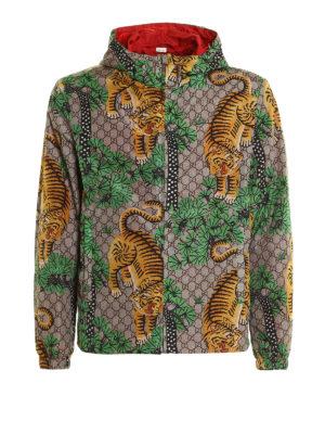 Gucci: casual jackets - Bengal print nylon jacket