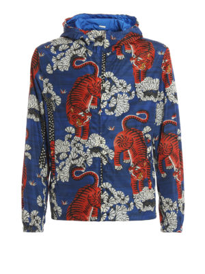 Gucci: casual jackets - Bengal print windbreaker