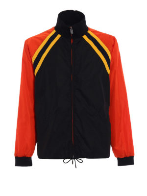 Gucci: casual jackets - Black and orange nylon jacket