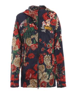 GUCCI: giacche casual - Giacca long fit stampa fiori e decorazioni