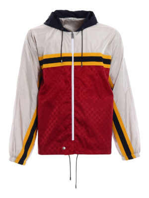 Gucci: casual jackets - Guccy embroidery nylon jacket