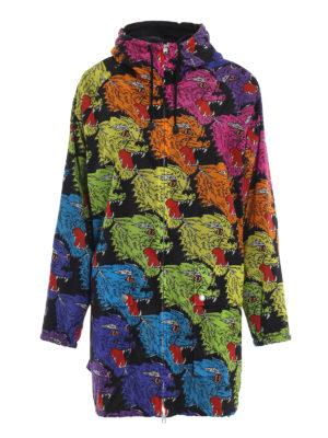 GUCCI: giacche casual - Caban in nylon motivo pantere arcobaleno