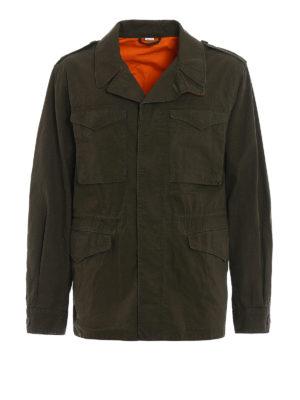 Gucci: casual jackets - Signature cotton field jacket