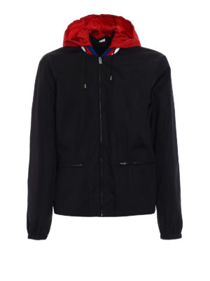 Gucci: casual jackets - Sylvie Web collar nylon windbreaker