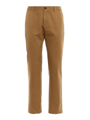 GUCCI: pantaloni casual - Chino in drill di cotone beige