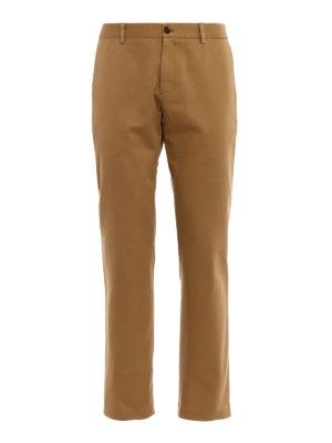 GUCCI: pantaloni casual - Chino in drill di cotone beige