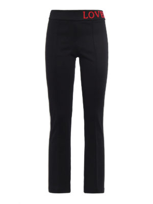 Gucci: casual trousers - Contrasting bands crepe trousers