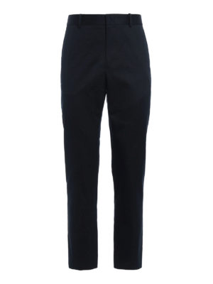 Gucci: casual trousers - Cotton drill cigarette trousers