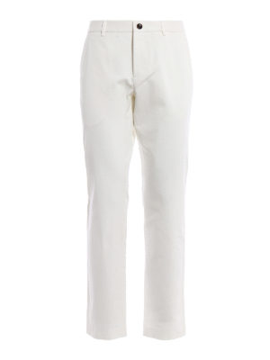 Gucci: casual trousers - Logo embroidery drill trousers