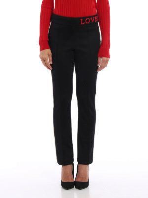 Gucci: casual trousers online - Contrasting bands crepe trousers