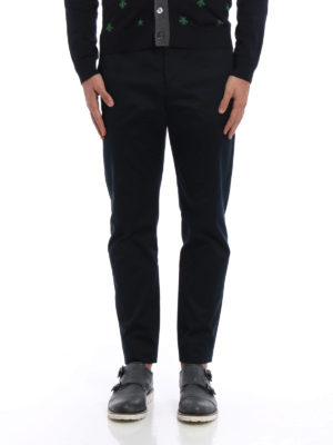 Gucci: casual trousers online - Cotton drill cigarette trousers