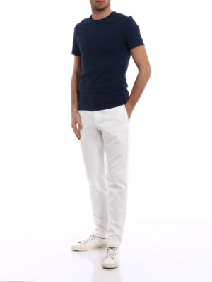 Gucci: casual trousers online - Logo embroidery drill trousers