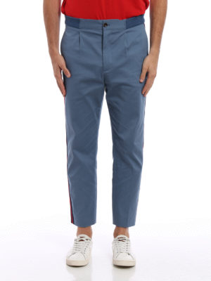 Gucci: casual trousers online - Web grosgrain bands crop trousers
