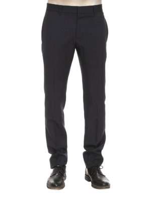 Gucci: casual trousers online - Wool and mohair slim fit trousers