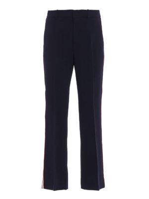 GUCCI: pantaloni casual - Pantaloni bootcut in viscosa stretch