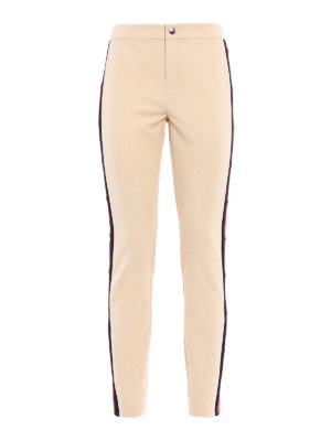 Gucci: casual trousers - Web band stretch trousers