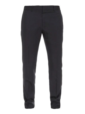 Gucci: casual trousers - Wool and mohair slim fit trousers