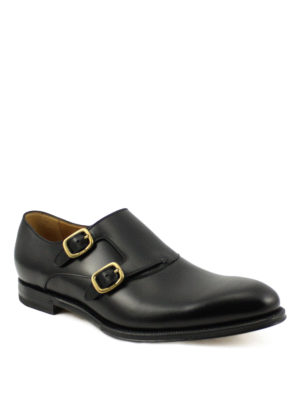 Gucci: classic shoes online - Leather classic monk straps