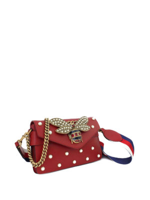 Gucci: clutches online - Broadway leather embellished clutch