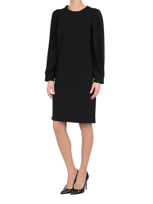 Gucci: cocktail dresses online - Pleated silk sleeve DRESSES