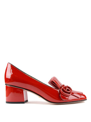 Gucci: court shoes - Marmont patent leather pumps