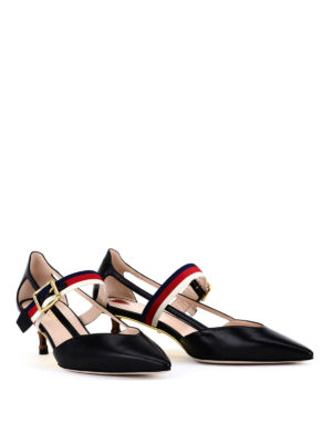 Gucci: court shoes online - Bamboo heel leather court shoes