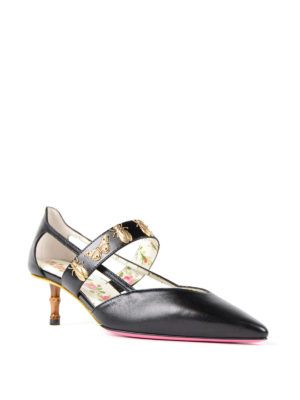 Gucci: court shoes online - Insect stud detailed leather pumps