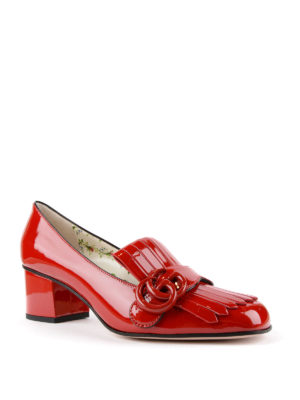 Gucci: court shoes online - Marmont patent leather pumps