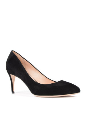 Gucci: court shoes online - Mid stiletto heel suede pumps
