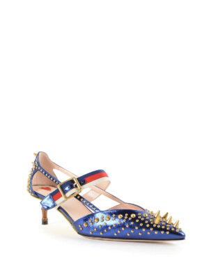 Gucci: court shoes online - Studded patent leather pumps