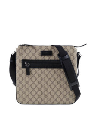 Gucci: cross body bags - GG Supreme crossbody