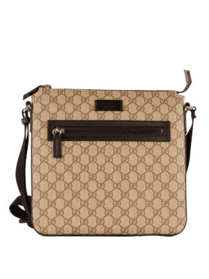 Gucci: cross body bags - GG Supreme messenger bag