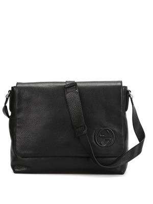 Gucci: cross body bags - Leather messenger bag