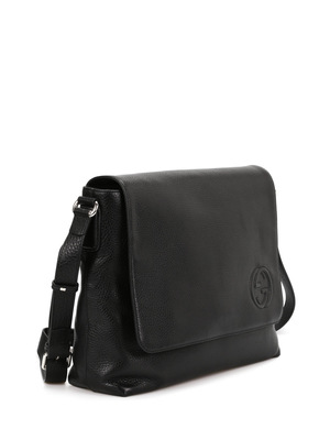 Gucci: cross body bags online - Leather messenger bag