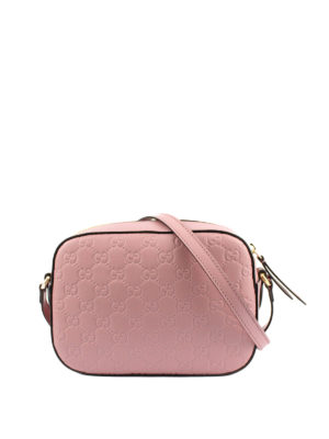 Gucci: cross body bags - Signature leather crossbody bag