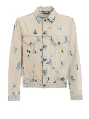 Gucci: denim jacket - Bleached and printed denim jacket