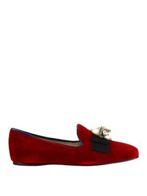 Gucci: flat shoes - Etoile embellished velvet loafers