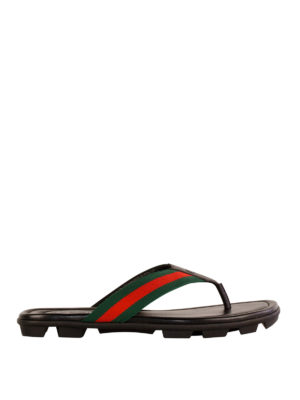 Gucci: flip flops - Leather flip flops