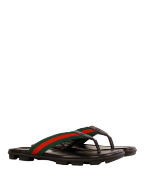 Gucci: flip flops online - Leather flip flops