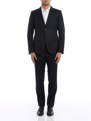 Gucci: formal suits online - Monaco bee detailed wool suit