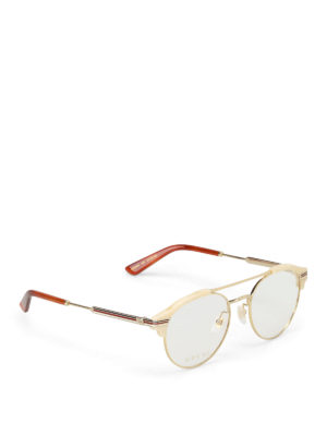 Gucci: glasses - Acetate and metal round eyeglasses
