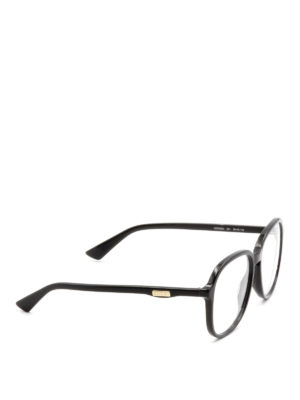Gucci: glasses - Black acetate frame eyeglasses
