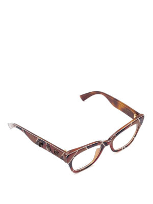 Gucci: glasses - Embellished squared optical glasses