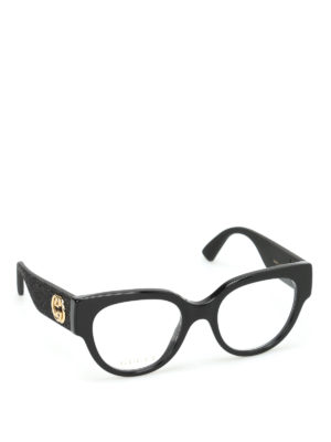 Gucci: glasses - Glittered temples optical glasses