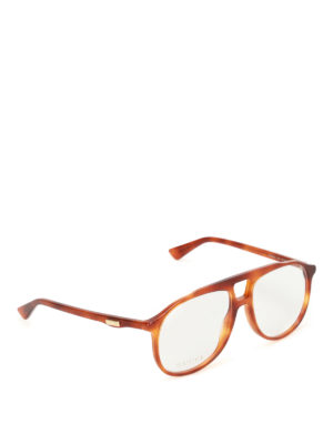 Gucci: glasses - Havana acetate optical glasses