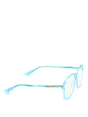 Gucci: glasses - Light blue acetate frame eyeglasses