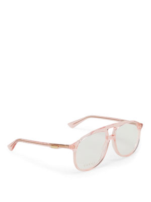 Gucci: glasses - Light orange optical glasses