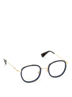 Gucci: glasses - Metal and acetate optical glasses